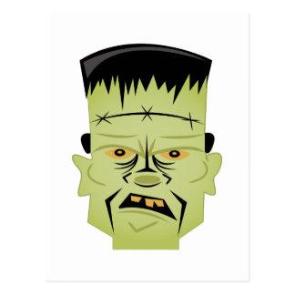 Frankenstein Kopf Postkarte