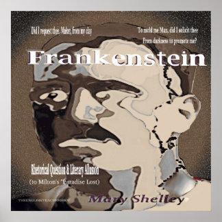 Frankenstein rhetorische Frage Poster