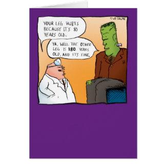 Frankensteins Doktor Get Well Soon Card Karte