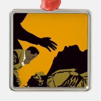 frankenstien silbernes ornament