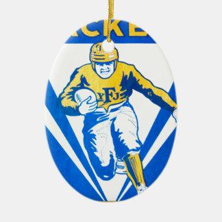 Frankford gelbe Jacken Ovales Keramik Ornament