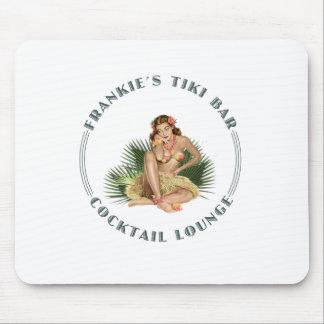 Frankies Tiki Bar Hula Mädchen-Bar Mousepad
