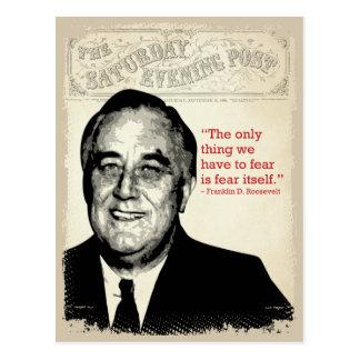 Franklin D. Roosevelt-Zitat Postkarte