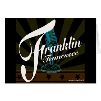 Franklin-Gruß-Karten Karte