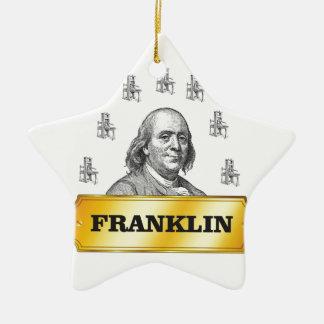 Franklin-Pressebogen Keramik Stern-Ornament