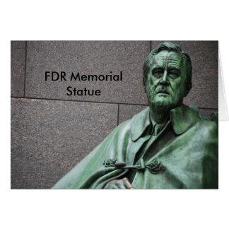 Franklin- Rooseveltstatue am FDR-Denkmal Karte
