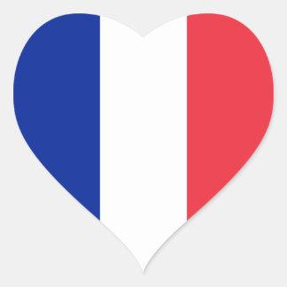 Frankreich-Flagge Herz-Aufkleber