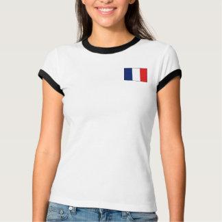 Frankreich-Flagge + Karten-T - Shirt