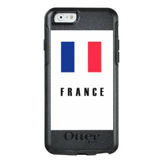 Frankreich-Flaggen-einfache Dunkelheit OtterBox iPhone 6/6s Hülle