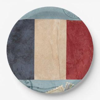 Frankreich-Flaggen-Papier-Teller Pappteller