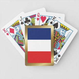 Frankreich-Flaggen-Spielkarten Bicycle Spielkarten