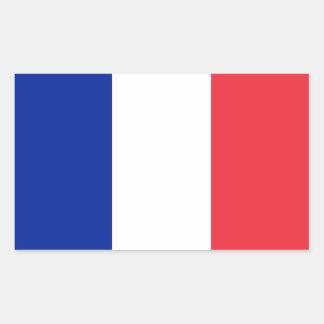 Frankreich/französische Flagge Rechteckiger Aufkleber