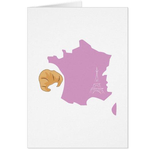 Frankreich Grußkarte