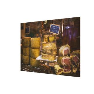 Frankreich, Korsika. Lokale Käse und Charcuterie Leinwanddrucke