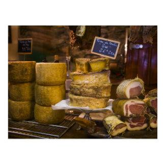 Frankreich, Korsika. Lokale Käse und Charcuterie Postkarten