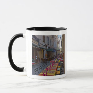 Frankreich, Korsika. Tabellen des Cafés gegründet Tasse