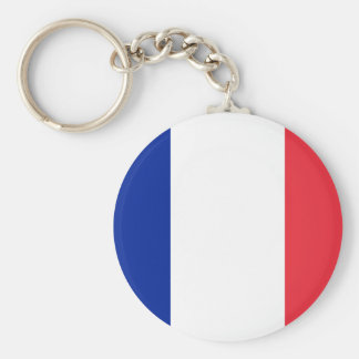 Frankreich Standard Runder Schlüsselanhänger