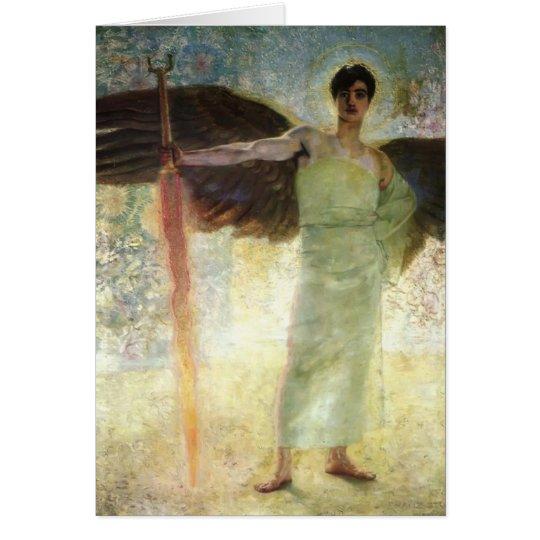 Franz haftete Engel mit der lodernden Klinge Grußkarte