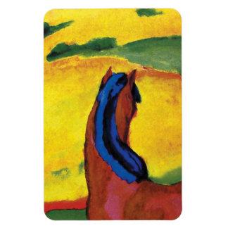 Franz Marc - Pferd in einer Landschaftsmalerei Magnet