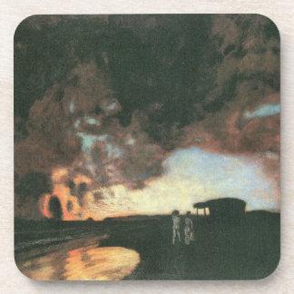 Franz von Stuck - Sonnenuntergang in dem Meer Untersetzer