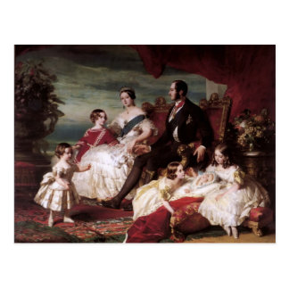 Franz Xaver Winterhalter- die Königsfamilie im Postkarte