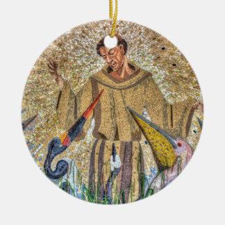 Franziskus von Assisi Mosaik Keramik Ornament
