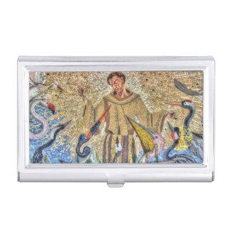 Franziskus von Assisi Mosaik Visitenkarten Etui