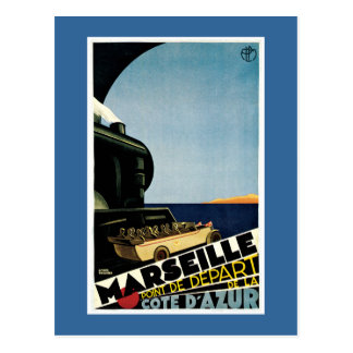 Franzose-Reise-Plakat Marseilles Vintages Postkarte