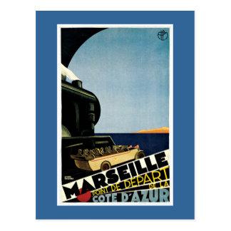 Franzose-Reise-Plakat Marseilles Vintages Postkarten