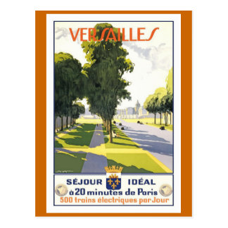 Franzose-Reise-Plakat Versailles Vintages Postkarte