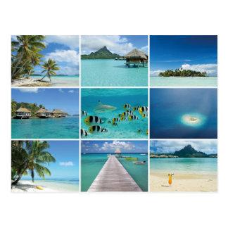 Französisch-Polynesiencollagenpostkarte Postkarten