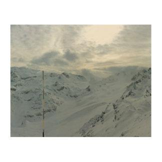 Französische Alpen Holzdruck
