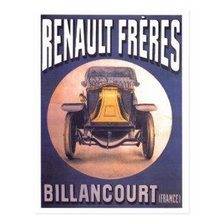 Französische Automobil-Anzeige Renaults Freres Postkarte
