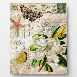 französische botanische Kunst Fotoplatte