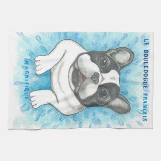 """Französische Bulldogge Magnifique Geschirrtuch 16"""""""