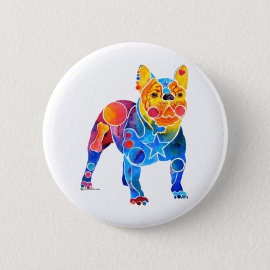 Französische Bulldogge Runder Button 5,1 Cm