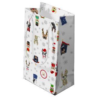 Französische Bulldoggen-Feriengeschenk-Tasche Kleine Geschenktüte