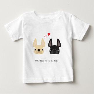 Französische Bulldoggen-Kleid Baby T-shirt