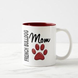 Französische Bulldoggen-Mamma 2 Zweifarbige Tasse