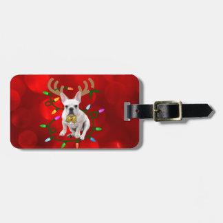 Französische Bulldoggen-Ren Gepäckanhänger