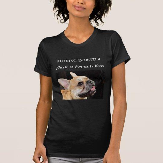 Französische Bulldoggen-T - Shirt-Franzose-Kuss T-Shirt