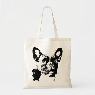Französische Bulldoggen-Tasche Budget Stoffbeutel