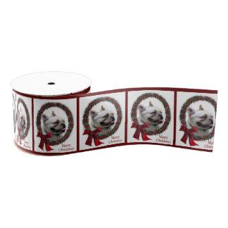 Französische Bulldoggen-Weihnachten Ripsband