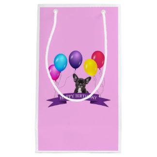 Französische Bulldoggen-Welpen-alles- Gute zum Kleine Geschenktüte