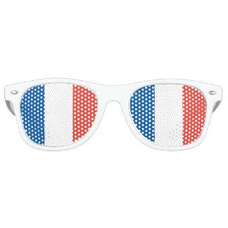 Französische Flagge Retro Sonnenbrillen