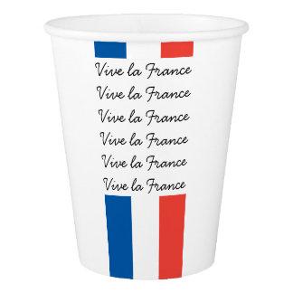 Französische Flagge, Vive La Frankreich, Pappbecher