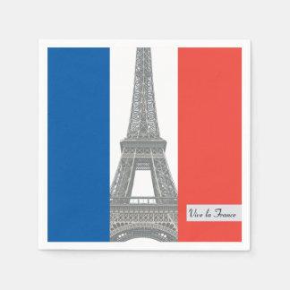 Französische Flagge, Vive La Frankreich, Serviette