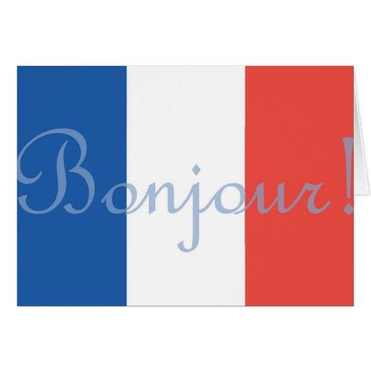 Französische Flaggen-Gruß-Karte Karte