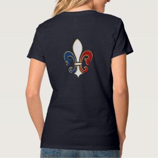 Französische Flaggen-Lilie mit Gold T-Shirt