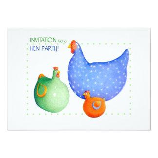 Französische Henne-Henne-Party Einladung